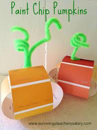 paint chip pumpkins craft for kids surviving a teacher u0027s salary