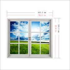 grassland 3d artificial window view blue sky 3d wall decals room 9d5cbbdc 117f 4c78 829f 6ad0ed0349fa