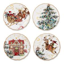 twas the before salad plates multi set of 4