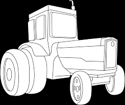 tractor coloring page free clip art
