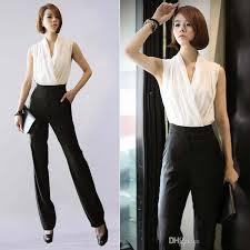 wholesale new summer sleeveless v neck women jumpsuits