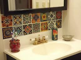 Hand Painted Tiles For Kitchen Backsplash Mexican Tile Backsplash And And Salsa Mexican Happy Hour Hand