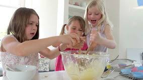 how to make a cake for a girl three cake together stock footage of