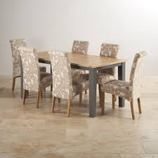 spectacular oak dining table and fabric chairs for dining tables