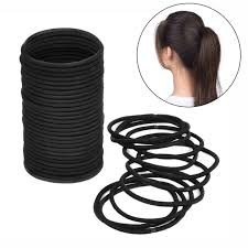 hair elastics 100pcs black thick snag free endless hair elastics hairbands