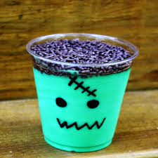 frankenstein pudding cup u2013 best cheap easy halloween party snack