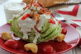 wedge salad with homemade blue cheese dressing recipe cincyshopper