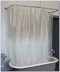 oval shower curtain rod for clawfoot tub curtain home