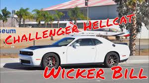 challenger hellcat wicker bill install youtube