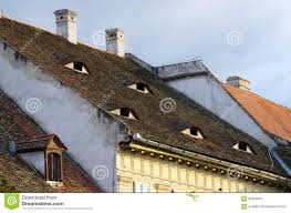 famous houses with eyes in sibiu romania stock photo image