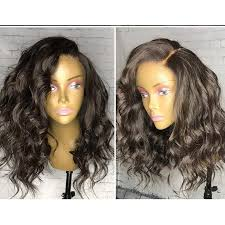 short curly full lace wig water wave full lace front wigs human