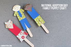 craftaholics anonymous national adoption day craft family puppets