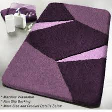 Purple Bathroom Rugs Unique Non Slip Contemporary Bathroom Rugs Geometric Pattern