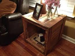 Diy Simple End Table by Coffee Table Salvaged Pallet Side Table With Storage Small Living