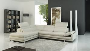 a 958 modern sectional italian leather sofa off white