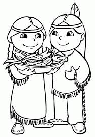 thanksgiving indian coloring pages coloring