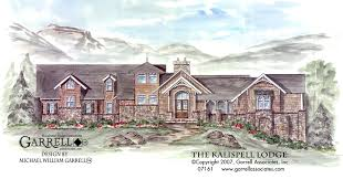 craftsman style home plans kalispell lodge house plan house plans by garrell associates inc