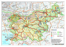 Travel Map Of Europe by Large Detailed Road And Travel Map Of Slovenia With Relief