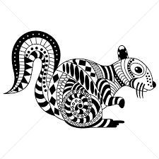 decorative squirrel design vector image 1563020 stockunlimited