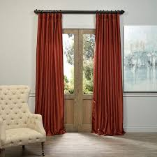 Burnt Orange Sheer Curtains Terrific Burnt Orange Window Curtains 25 For Your Small Home
