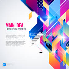 text background with abstract geometric element and glowing lights