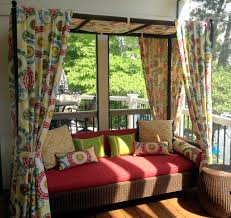 Outdoor Deck Furniture by Outdoor U0026 Landscaping Attractive Floral Scarf Curtain For Red