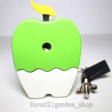 Apple Desk Accessories by Titi Shapa Cute Green Apple Pencil Sharpener 1 Pcs Pencil