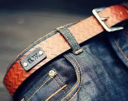 custom leather belt handmade personalized gift aztec tribal