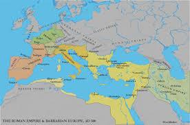Map Mediterranean Mediterranean Europe C 500 Barbarian Kingdoms And Byzantium