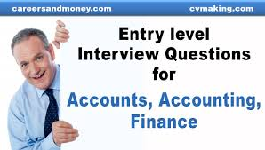 Best Resume Questions by Entry Level Interview Questions For Accounts Accounting Finance