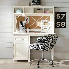 Small Desk With Hutch Beadboard Space Saving Desk Hutch Pbteen