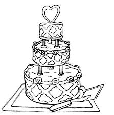 wedding cake clipart drawn pencil and in color wedding cake