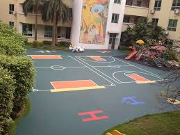 Outdoor Basketball Court Cost Estimate by Basketball Hoops 12 Court Stencil Loversiq