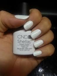 cnd shellac cream puff with zillionaire done by whitney rumors