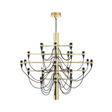 Chandelier Metal Gino Sarfatti Chandelier Metal Brass 30 Lightbulbs Gino Sarfatti