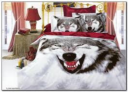 Wolf Bedding Set Wolf Bedding White Bed