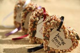 bird seed favors 150 medium bird seed favors hearts personalized eco friendly