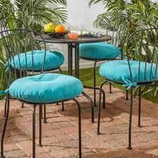 round outdoor bistro cushions wayfair