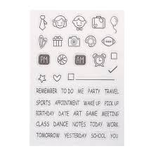 wholesale transparent clear stamp diy silicone seals scrapbooking