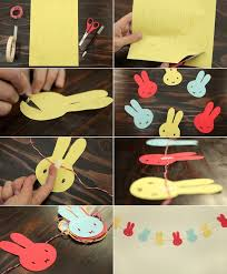 Easter Decorating Ideas 2014 by Diy Easter Home Decorating Ideas Crafts Kids Paper Garland Bunnies