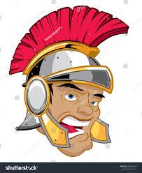 head roman soldier centurion helmet stock vector 469068578