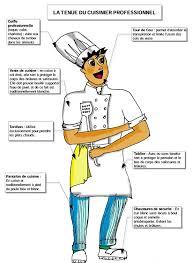 vocabulaire de cuisine autour de la gastronomie la tenue du cuisinier fiche brigade