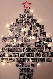 hang photos on your wall in the shape of a tree along with
