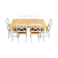 54 off beech wood and white dining set tables