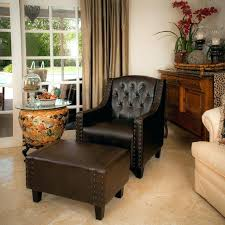 Chairs And Ottoman Sets Leather Chair And Ottoman Sets Brown Leather Club Chair Ottoman