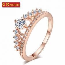 Crown Wedding Rings jewelry rings king and queen crown wedding rings elegant popular