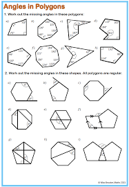 How To Calculate Interior Angles Of An Irregular Polygon Polygons Worksheet Shapes Worksheets Printable Fts E Info