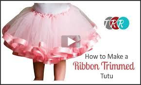 ribbon tutu to make a ribbon trimmed tutu thursday the ribbon retreat