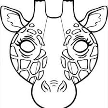 animal face mask coloring pages printable coloring pages design