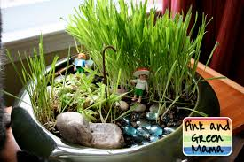 Fairy Garden Ideas by Pink And Green Mama Indoor Cat Fairy Garden